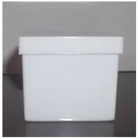 500 Caixinhas Acrilico 4x4x3,3cm Para Lembrancinhas Branca
