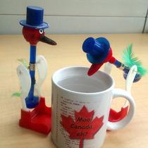 Juguete Cientifico Drinking Bird Pajaro Bebedor El Original