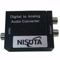 Conversor Audio Digital Optico Toslink A Jack Rca Analogico