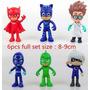 Set Completo *6 Muñecos* Heroes En Pijamas Pj Masks 9cms!