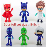*6 Muñecos* 9cm C Caja Heroes En Pijama Pj Masks! Hay Stock!