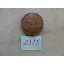 M - 2115 - Moeda Inglaterra 2 New Pence!!!