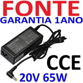 Fonte Carregador Notebook Cce Win Ncv Bps 20v 3.25a Nova