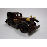 Carro Auto Antiguo Clasico En Madera Escala 24cm Coleccion