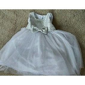 Vestido De Fiesta Para Niña Tul Color Plata