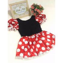 Vestido Fantasia Minnie Festa Aniversario Tam 2 3 4 6