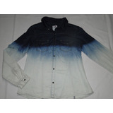 Camisa Feminina Jeans Degradê Tam 38 E 40! Nova