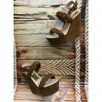 Sandalia Moda Plataforma Mujer Dama Marron Proveedor Calzado