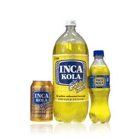 Refresco Peruano Inca Kola Botellas De 2 Litros/3 Latas Inka