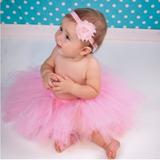 Saia Tutu Tule Fantasia P Ensaio Fotográfico Bebê Newborn