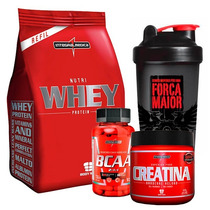 Kit Nutri Whey Chocolate + Bcaa + Creatina Integralmédica