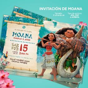 Diseño Invitación Para Cumpleaños Moana Toy Story Frozen