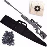 Rifle Aire Comprimido Swiss Arms Mira Balines Funda Blancos