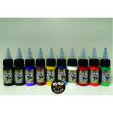 Kit Com 10 Tintas Iron Works 15ml Para Tatuagem Tattoo