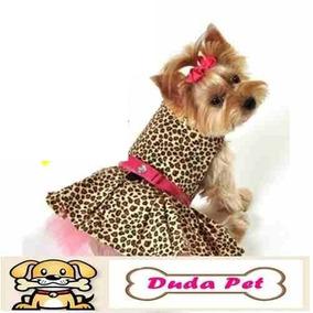 Kit 7 Roupas Cachorro Coleiras Vestido Pet Macho E Femea