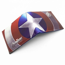 Cartera Capitan America Superhéroes Marvel Dc Moda Hombre