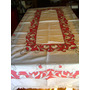 Mantel Antiguo Punto Cruz Rojo 2.34 X 1.60