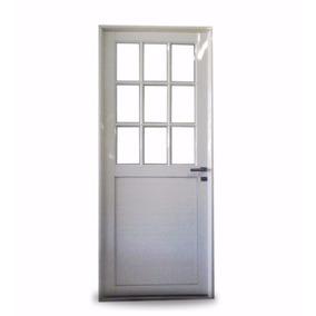 Puerta aluminio exterior para cocina aberturas puertas for Puerta lavadero