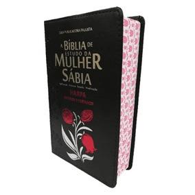 Bíblia De Estudo Da Mulher Sábia Letra Grande Harpa Preta