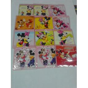 Tarjetas De Minnie Y Mickey Mouse Con Sobre Por 12