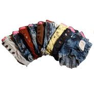 Kit 15 Shorts Jeans Femininos Cintura Alta Hot Pants Atacado