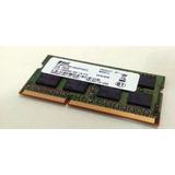 Memoria 4gb Ddr3 1600mhz Pc3-12800s 2rx8 Notebook Nova