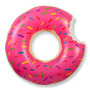 Inflable Dona Gigante (120 Cm) Rosa Y Chocolate