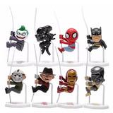 Super Heroes Y Villanos - 8 Muñecos Coleccionables!!!