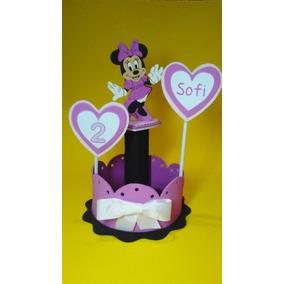 Centro De Mesa Minnie O Mickey Personalizado Nombre Y Año