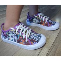 Tênis Calçado Sapato Presente Fantasia Monster High Menina