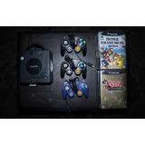 Nintendo Game Cube 3 Controles Y 14 Juegos Envio Gratis