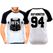 Camiseta Raglan Kpop Bts Bangtan Boys Rap Monster 94