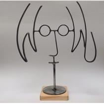 John Lennon / Figura De Metal / Fierro / Base Clara