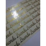 Nome Metálico Ouro Aplique Adesivo Cartela 10x19cm