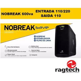 Nobreak 600va Bivolt Ragtech Save Entrada 110/220 Saida 110