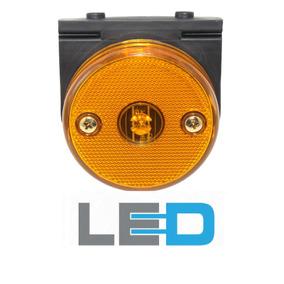 Lanterna Lateral Carreta Mod Randon Led Bi Volt Cor Ambar