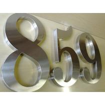Números De Aço Inox 20cm / Escovado Ou Espelhado