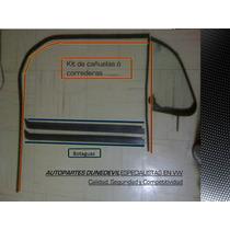 Kit De Hules Para Vidrios De Tu Vocho Completo/ Cañuelas