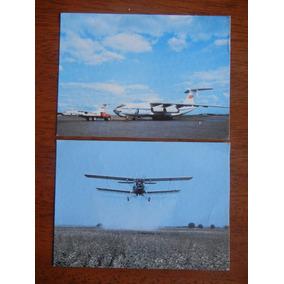 2.- Postales De Avión De Caga Y Avioneta Fumigación Rusos