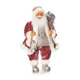 Papai Noel Grande Em Pé Segurando Lamparina E Presentes - Co