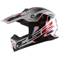 Capacete Ls2 Mx456 Compass Vermelho Motocross / Offroad