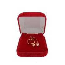 Promoção Brinco Ouro 18k Argola Infantil + Pingente Coração