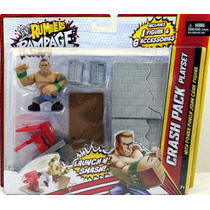 John Cena W / Accidente Paquete Playset - Wwe S Rumblers Ra