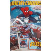 Cotillón Completo Cumple Spiderman Para 20 Chicos