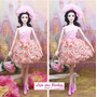 Vestido Luxo Bailarina P/ Boneca Barbie * Roupa + Sapato