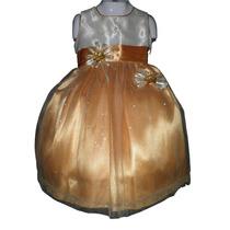 Nuevo Vestido Dorado Con Glitter 2 Y 3 Años Princesa Fiesta