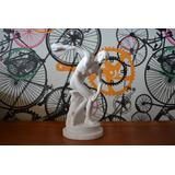 Escultura Discobolo Miron Po De Marmore 27cm Italiana