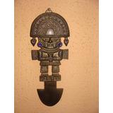 Antigua Cuchillo Ceremonial Inca-tumy -bronce . 27.5 Cms