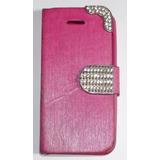 Linda Capa Rosa Para Celular Iphone 4 4s Fechamento Com Imã