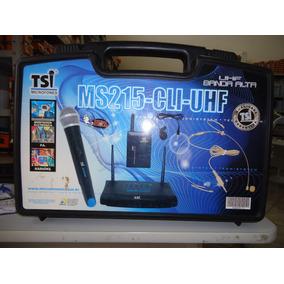 Microfone S/fio Tsi Ms215 Cli-uhf C/lapela E Headset